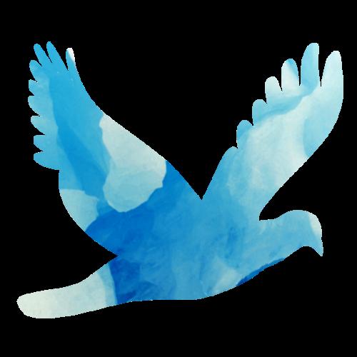 Friedenstaube in Eisblau