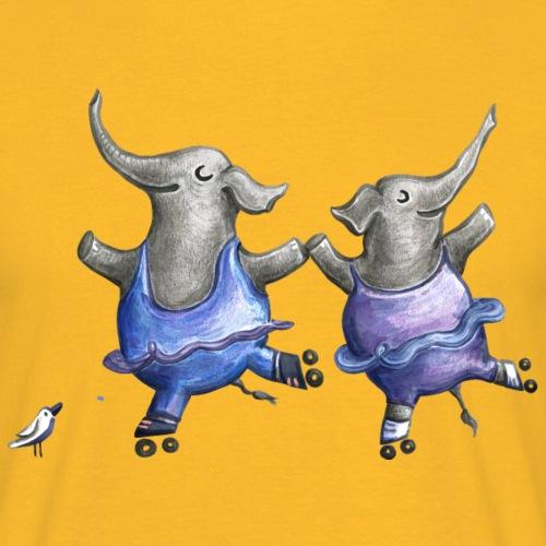 Roller skate elephant dance