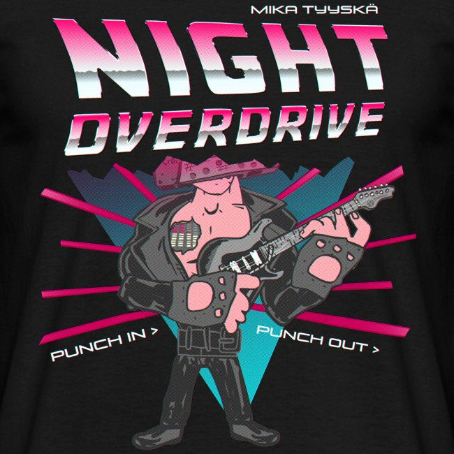 Tyyskä Night Overdrive (regular T-shirt)