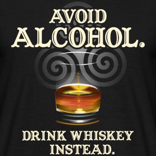 """Whisky T Shirt Design """"Avoid Alcohol"""""""