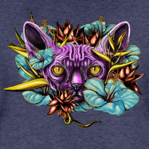 Sphinx Cat et les fleurs