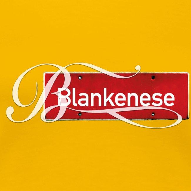 "Blankenese (Hamburg-Altona): Antikes Orssschild mit Tattoo ""B"""