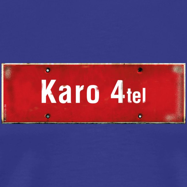 (Hamburg-) Karo 1/4tel Ortsschild