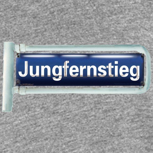Jungfernstieg: Originelles Hamburger Straßenschild