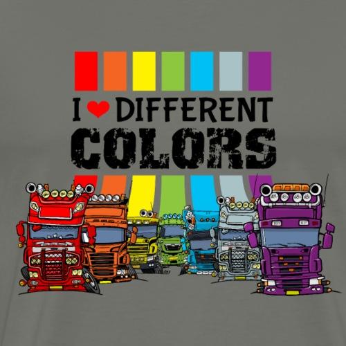 J'adore les différents camions de couleurs