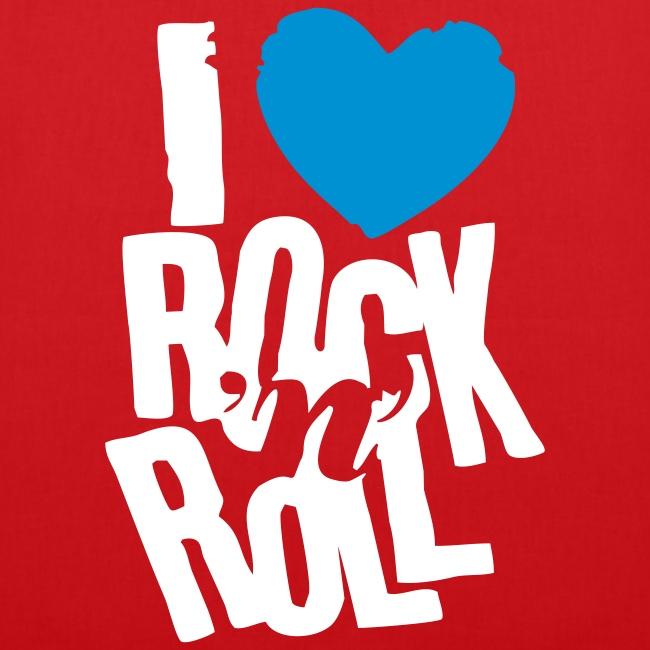 Stoffbeutel I love rock...