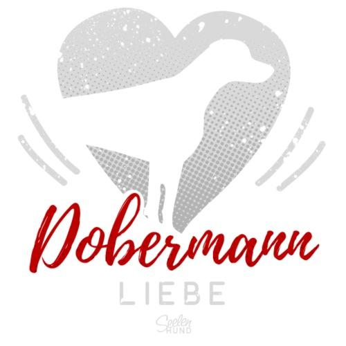 Dobermann Liebe mit Herz