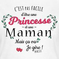 Tee shirt Princesse et maman blanc par Tshirt Family