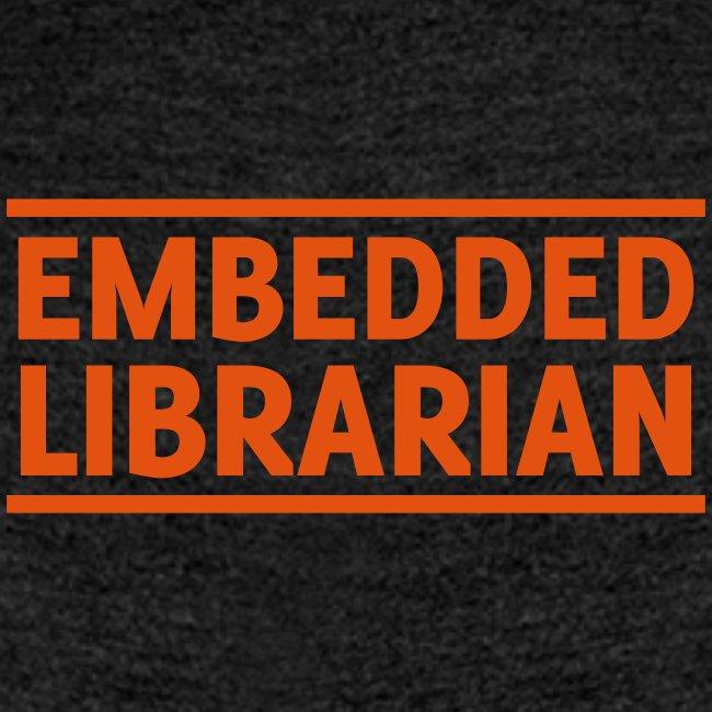 damen-t-shirt anthrazit mit orangenem flock-druck