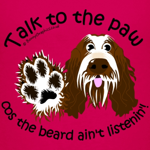 Talk to paw spinone roan