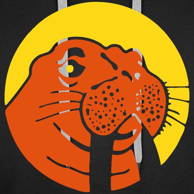 Hoodie Yellow/Orange Walu Logo