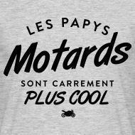T-shirt Les Papys motard sont plus cool gris chiné par Tshirt Family