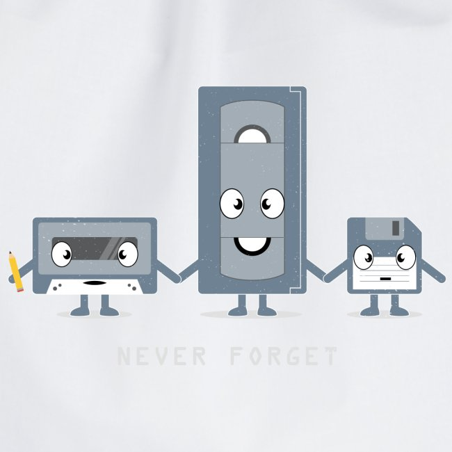 Never Forget VHS, Floppy, Kassette