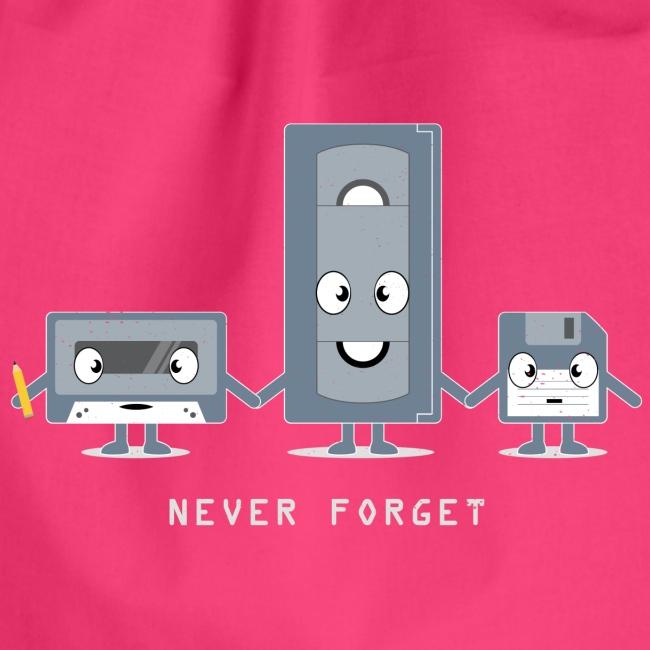 Never Forget VHS, Floppy, Kassette