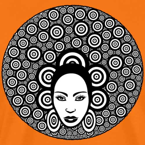 Afro hair woman