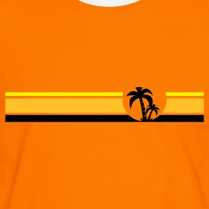 Surfing Palmiers - T-shirt contraste Homme