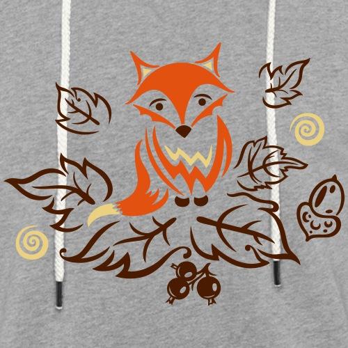 Kleiner Fuchs mit Blättern, Herbst, fox