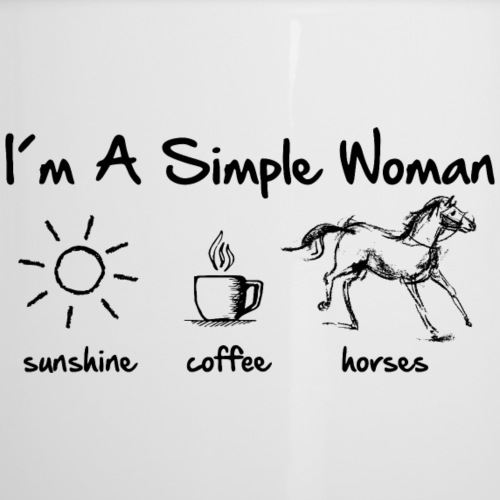 simple woman horse