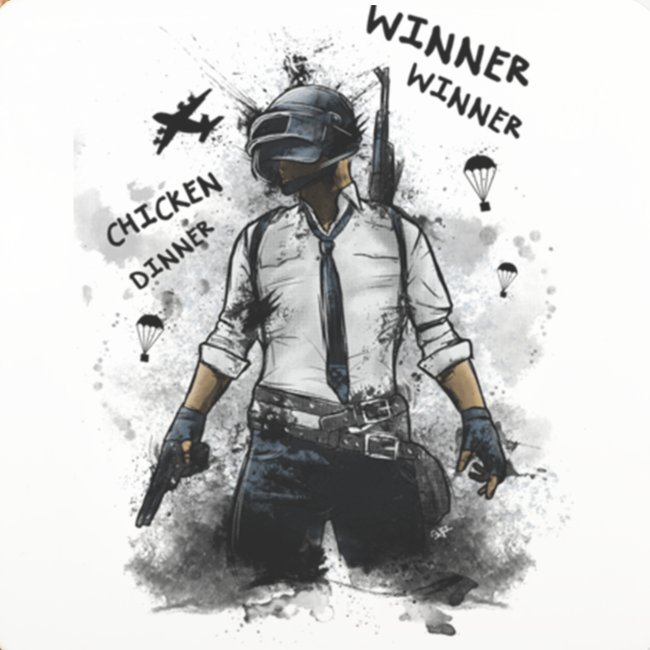 OutKasts.EU PUBG Chicken Dinner Coasters (set of 4)