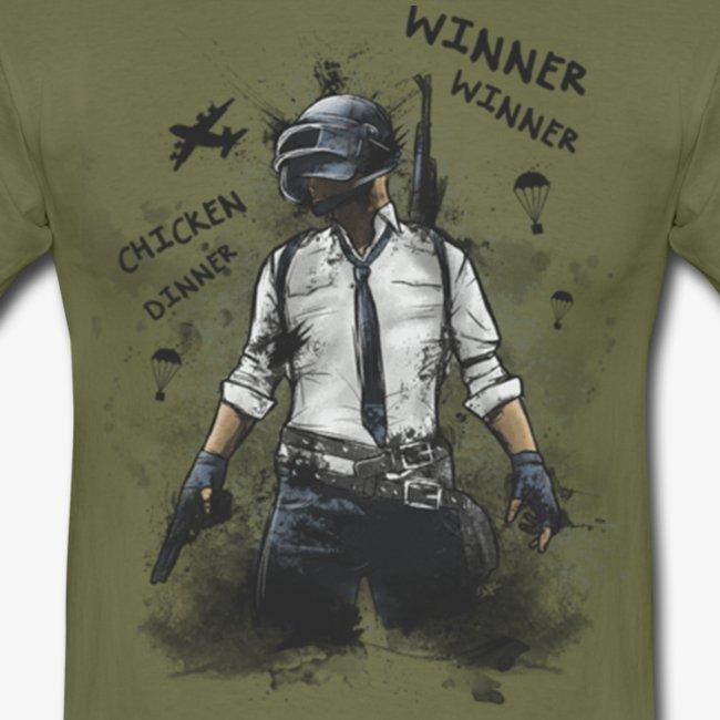 OutKasts.EU PUBG Chicken Dinner Men's T-Shirt