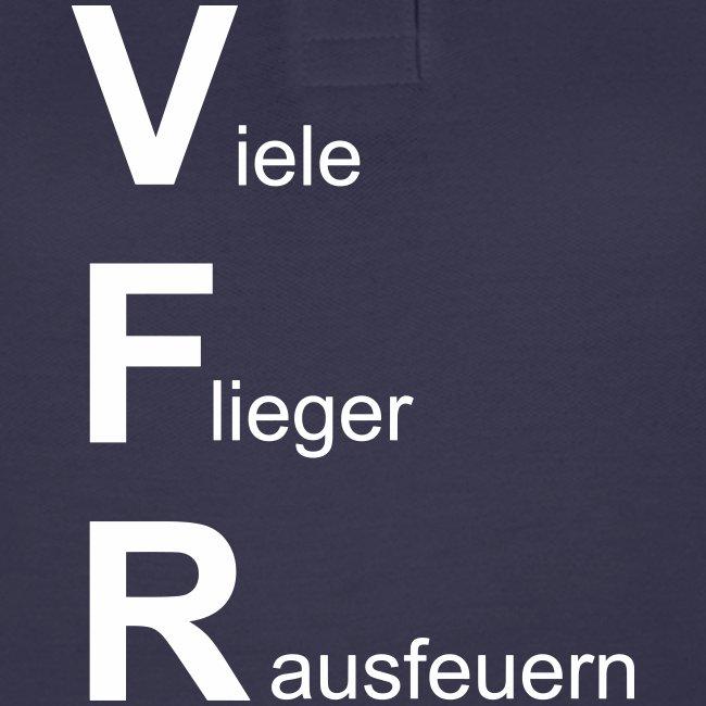 VFR - viele Flieger rausfeuern - Piloten Bekleidung lustig Geschenkidee
