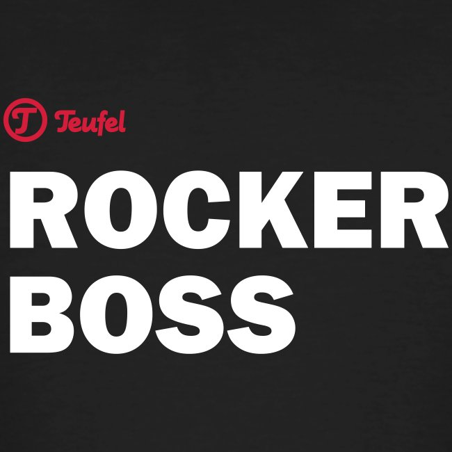 "Männer T-Shirt Teufel ""Rockerboss"""