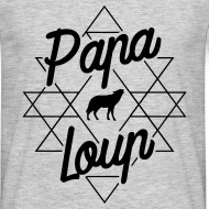 T-shirt Papa loup gris chiné par Tshirt Family