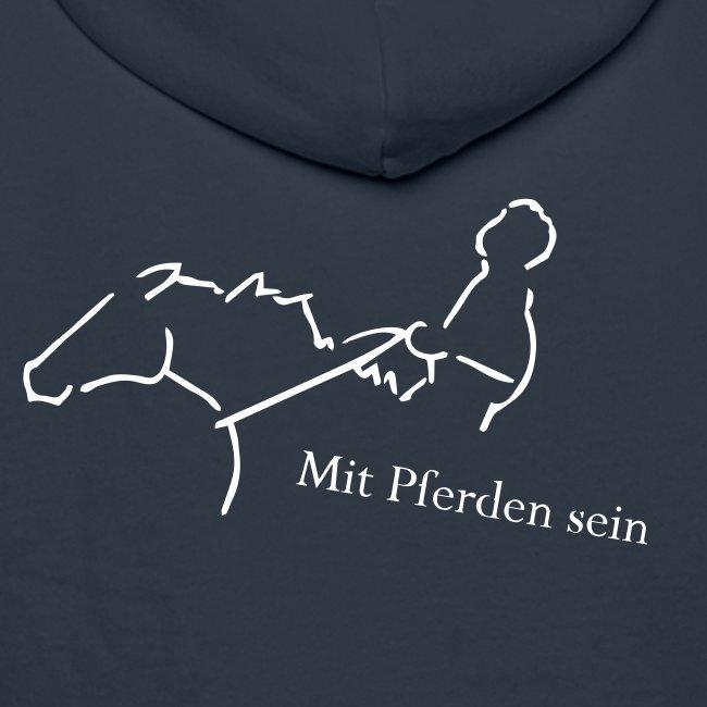 Front chin. Zeichen Back: MPS Rider pure ( Print: vorn Reflektierend- hinten weiss)