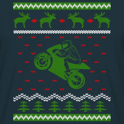 Cadeau de motard moto Superbike · Noël laid