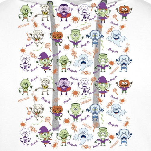 Funny Halloween characters pattern