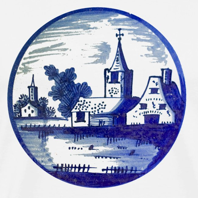 Delfts Blauw kerk heren t-shirt