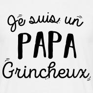 T-shirt papa grincheux blanc par Tshirt Family