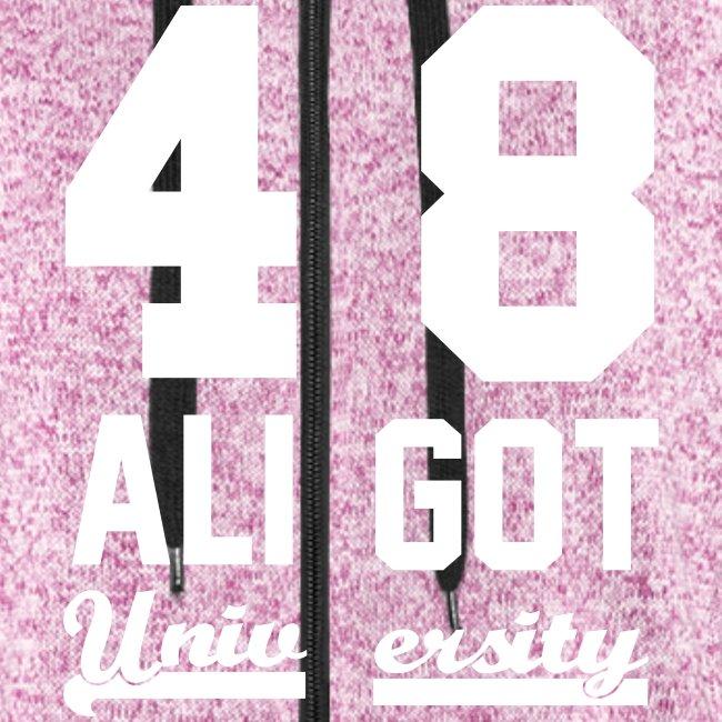 Sweat zippé femme pink & white