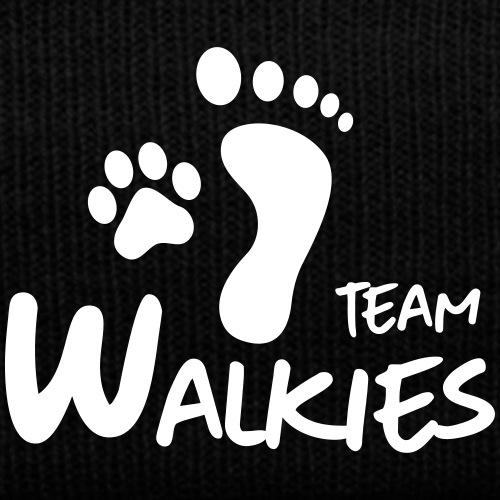 team walkies dog paw footprint