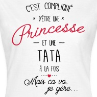 Tee shirt Princesse et tata blanc par Tshirt Family