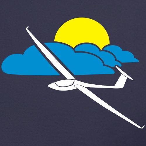 Wolkenstraße mit Segelflugzeug und Sonne  Geschenk