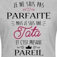 Tee shirt Tata Parfaite gris chiné par Tshirt Family