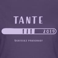 Tee shirt Tante en 2019 violet foncé par Tshirt Family