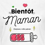 Tee shirt Bientôt maman blanc par Tshirt Family
