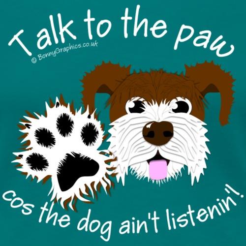 Talk to paw dog brown