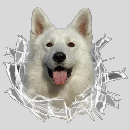 Schäferhund Weiss im *Glas-Loch*