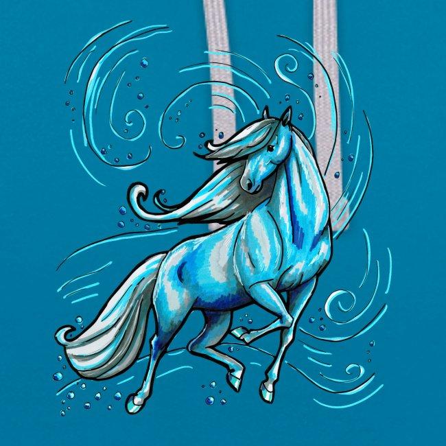 Front Wasserpferd - Back MPS LOGO Schriftzug  ( Print Digital Light Blue)