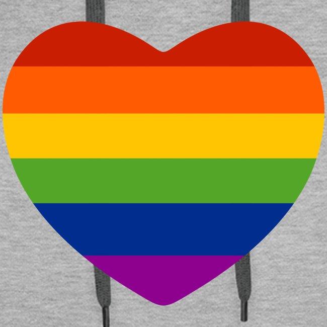 Regenbogen-Herz Hoodie