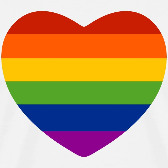 Regenbogen-Herz t-Shirt