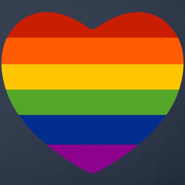Regenbogen-Herz Kissen