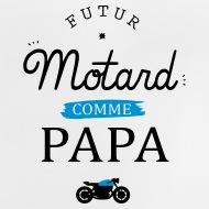 Tee shirt Futur Motard blanc par Tshirt Family