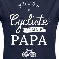 Body Bébé Futur Cycliste marine foncé par Tshirt Family
