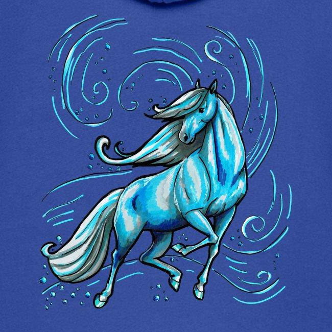 Front MPS Schörkelschriftzug-  Back Wasserpferd ( Print light blue)