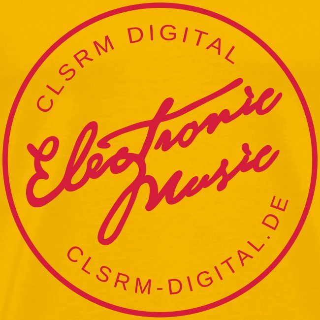 "Mens T-Shirt Badge ""Electronic Music"" 1c Red"