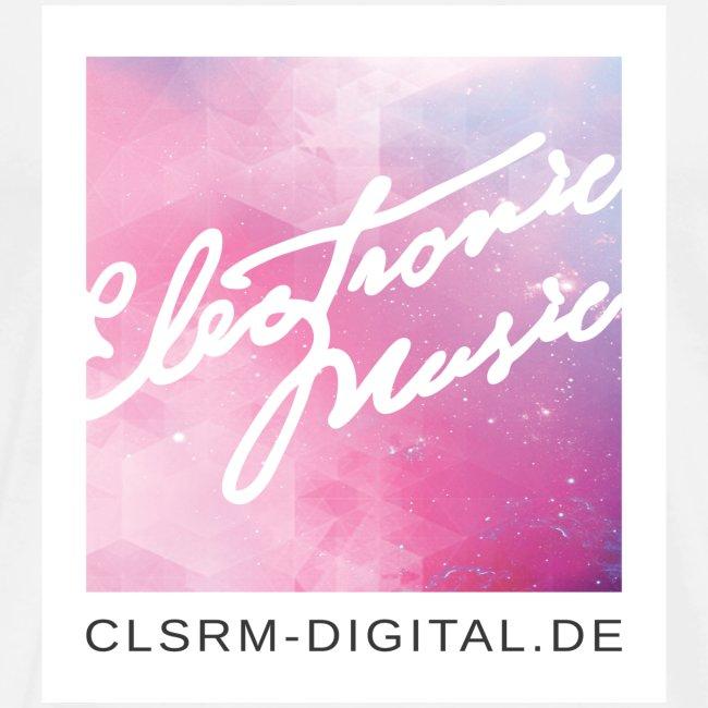"Mens T-Shirt Badge ""Electronic Music"" 4c"